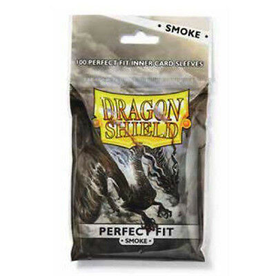 Dragon Shield Standard Perfect Fit Sleeves - Clear/Smoke (100 Sleeves)