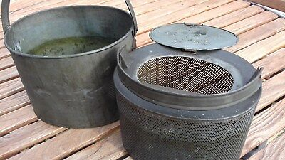 Vintage parts classic car cleaner degreaser unit mesh basket vehicle oil bath
