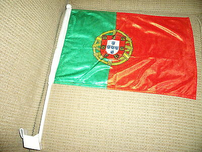 "2  Sided Portugal CAR FLAG 18""x 12"" New"