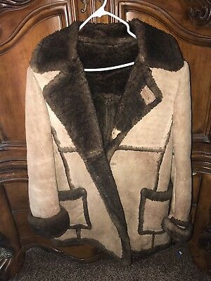 Real sheep skin COAT SIZE LARGE HANDMADE  great for Halloween costume