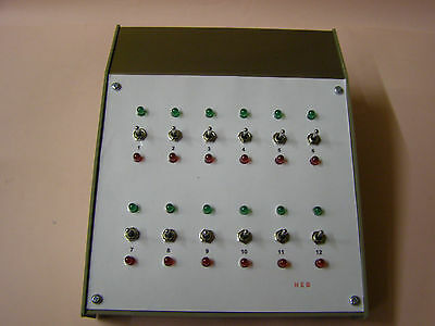 Model Railway Point Controller With Point Direction Leds And 12V Aux Outputs.