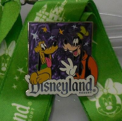 Disney Pin & Lanyard Costco Travel Pluto and Goofy GWP 2013