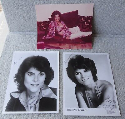 """3 ADRIENNE BARBEAU 8 x 10 autographed STUDIO Photos """"Rizzo"""" musical Grease"""