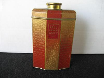 Vintage Talc L'Aimant Coty New York, TALCUM POWDER TIN