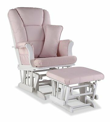 Stork Craft Tuscany Custom Glider and Ottoman with Free Lumbar Pillow, Blush