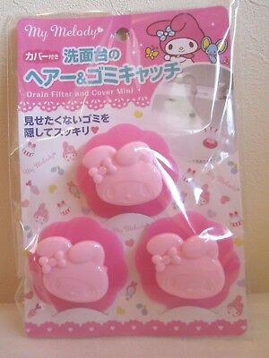 Sanrio My Melody Kawaii cute Drain Filter & cover mini Japan New Free shipping