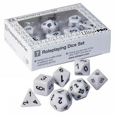 Ultra Pro Dice - Roleplaying Dice Set - White