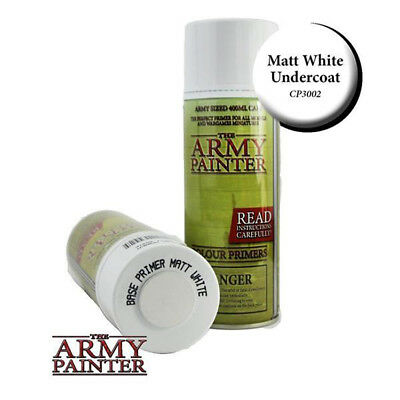 Army Painter - Base Primer - Matt White Spray (400ml)