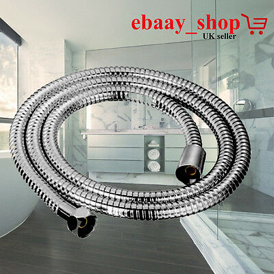 Chrome Bath Shower Hose Flexible Stainless Steel Replacement Pipe UK Seller