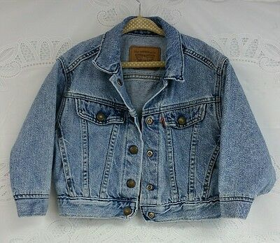 Little Levi Strauss & CO Blue Jean Button Snap Jacket Size 4T Toddler's Made USA