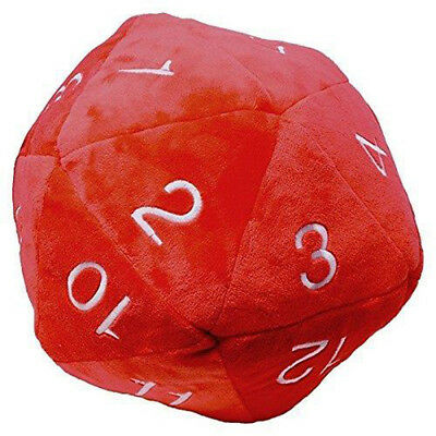 Ultra Pro Dice - Jumbo D20 Novelty Dice Plush in Red with White Numbering