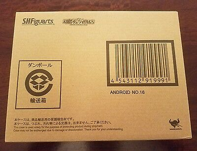 S.H. Figuarts Android 16 Action Figure Dragonball Z Kai New Sealed DBZ Authentic