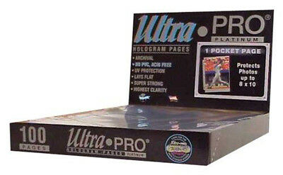 "Ultra Pro - 1-Pocket Platinum Page with 8 X 10"" Display (100 Pages)"""