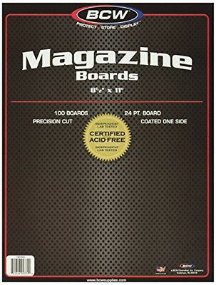 BCW-BBMAG - Magazine Size Backing Boards - White - (100 Boards) by BCW