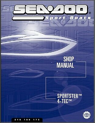 2003 Sea-Doo Sportster 4-TEC Jet Boat Service Repair Shop Manual CD
