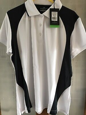 Ladies White/Navy Bowls Top Size 14 New With Tags