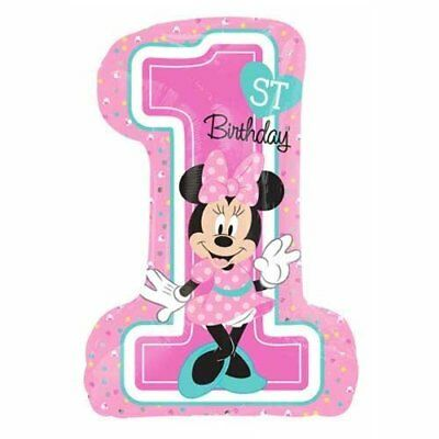 Anagram Pallone Foil Supershape 48 x 71 cm Minnie 1 Birthday, (E8t)