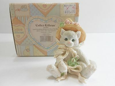 "1992 Calico Kittens ""Our Friendship Blossomed from the Heart"" Enesco 627887"