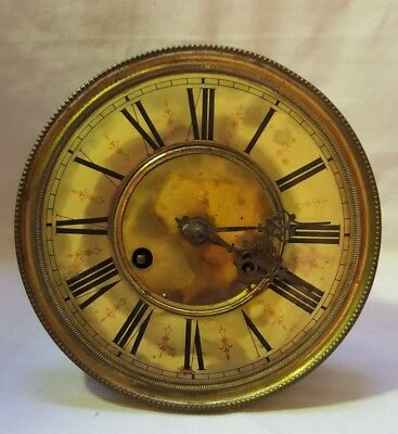 MID 19th CENTURY KIENZLE GERMAN CLOCK FACE & MOVEMENT for spares/repair