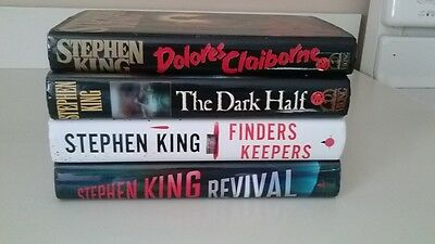 Lot of 4 Stephen King Novels dolores,dark half and more