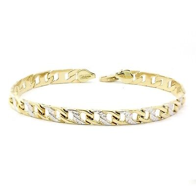 "10k Yellow/White Gold Mariner Link Bracelet (new, 3.3gr, 7.5"") 3982"