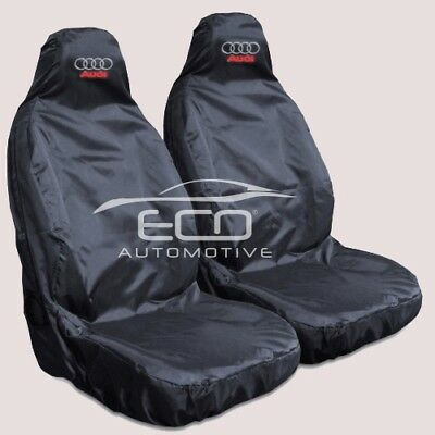 Audi Q7 S Line Heavy Duty Black Waterproof Car Seat Covers - 2 x Fronts