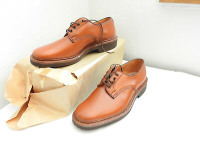 Boxed Pair Vintage Men's Brown Leather Frickers Shoes Bench Made 7 1/2 (4926)