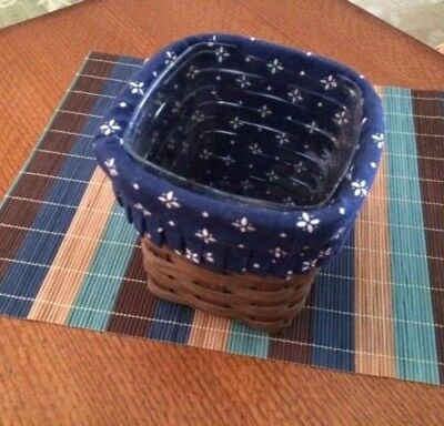 Longaberger Small Spoon Basket 1981 Liner and ?Protector?
