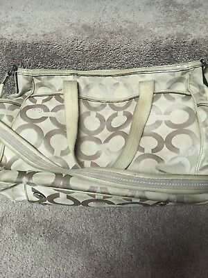Coach Cloth Ivory Diaper Bag-Pre-owned