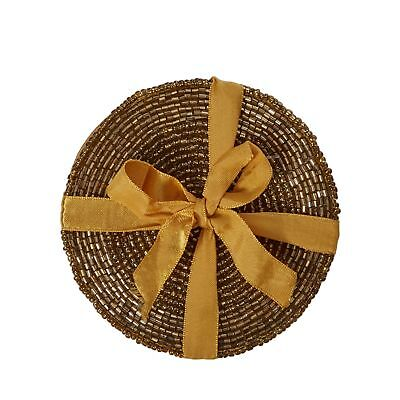 Home Collection Pack Of 4 Gold Beaded Coasters From Debenhams