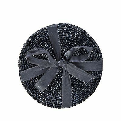 Home Collection Pack Of 4 Dark Blue Beaded Coasters From Debenhams