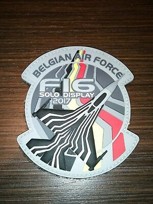 Belgian air force Solo display patch pvc 3