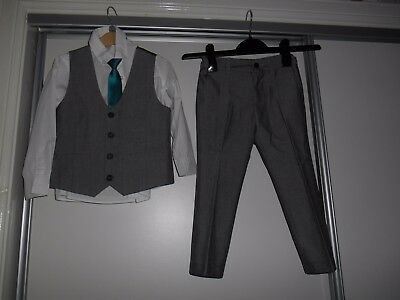 Boys Next  Grey 4 Piece Suit Age 4-5
