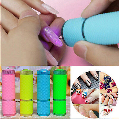 Mini Portable LED Nail Dryer Lamp Flashlight Torch UV Gel Nail Polish FT