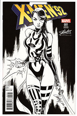 X-Men '92 #1 J. Scott Campbell Psylocke Sketch Stan Lee Variant Nm