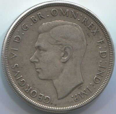 1937 Commonwealth of Australia One Crown Silver Coin!!!