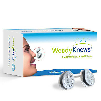 WoodyKnows Breathable Nose Nasal Filter Hay Fever Pollen Dust Allergies Pet Hair