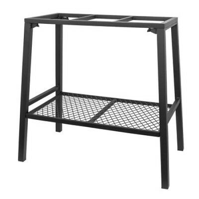 Steel Aquarium Stand For 10 to 20 Gallon Fish Tank With Accessory Shelf Black