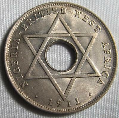 """British West Africa 1/2 Penny 1911 H """"One Year Type"""""""