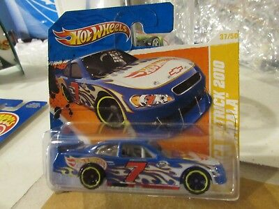 Hot Wheels Danica Patrick 2010 Chevy Impala 2011 New Models Blue Short Card