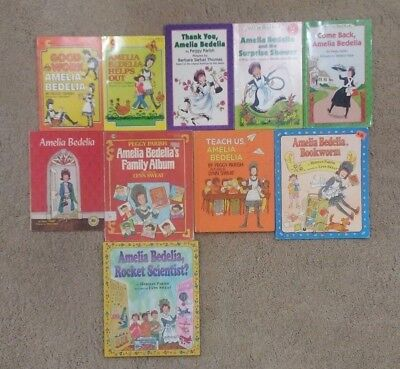 Lot of 10 Amelia Bedelia Books by Peggy Parish; Level 2 Readers