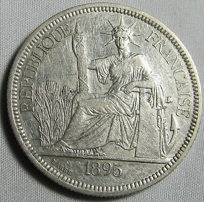 French Indo-China 1895 A Silver Piastre