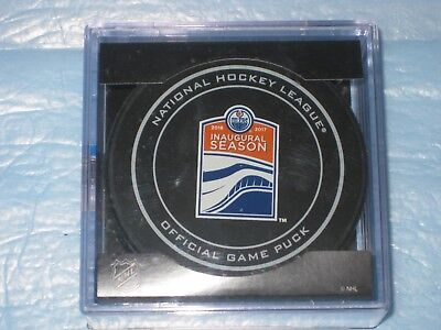 2017 Edmonton Oilers Rogers Place Inaugural Season Official Game Puck Nhl 100
