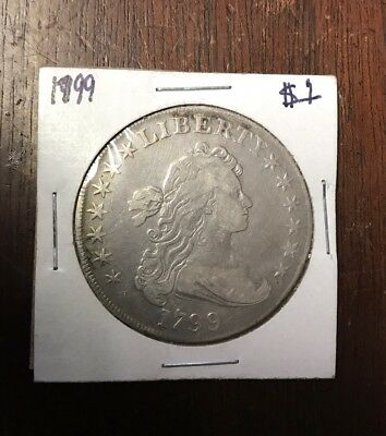 1799 Draped Bust Silver Dollar $1 - Details - Rare Coin - Near XF!