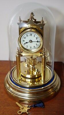 ANTIQUE GUSTAV BECKER SMALL DIAL 400 DAY TORSION CLOCK c1906