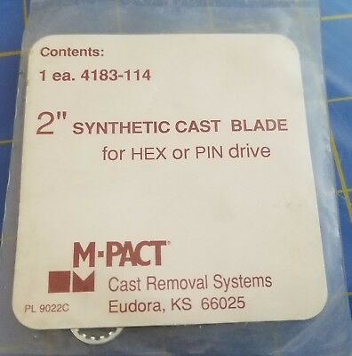 "M-Pact Cast Cutter Blade 2"" Synthetic cast blade Hex or Pin Drive 4183-114"
