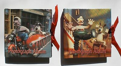 WALLACE AND GROMIT PHOTO ALBUMS 3.5 IN. PAIR UNUSED Close Shave, Wrong Trousers