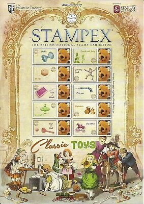 GB 2017 Classic Toys Limited edition Stampex Smiler sheet in fine condn.