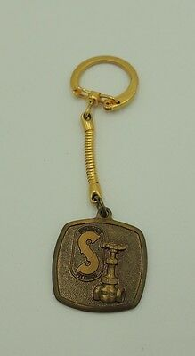 """Vintage """"On with the flow"""" Stockham Valves & Fittings Advertising Fob Keychain"""