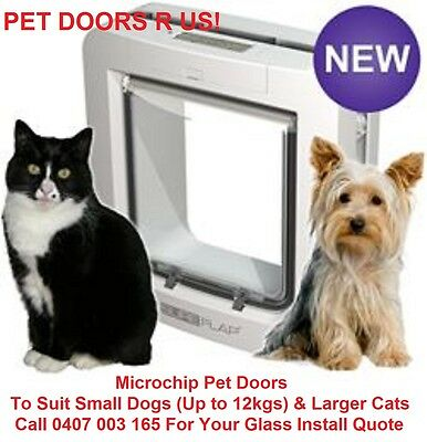 NEW - WHITE SureFlap Microchip Pet Door for Cats & Dogs , A+ Pet Door, No Power